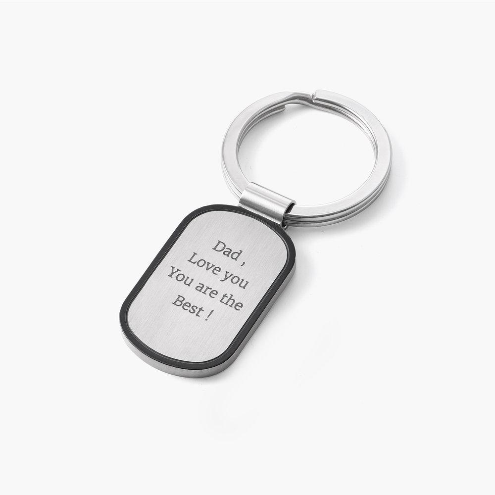 Dog Tag Personalized Keychain - 2