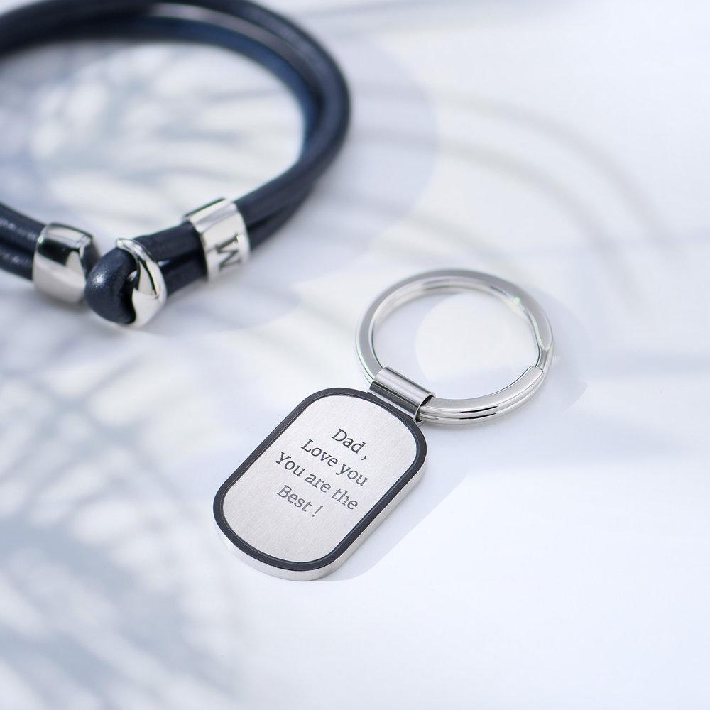 Dog Tag Personalized Keychain - 3