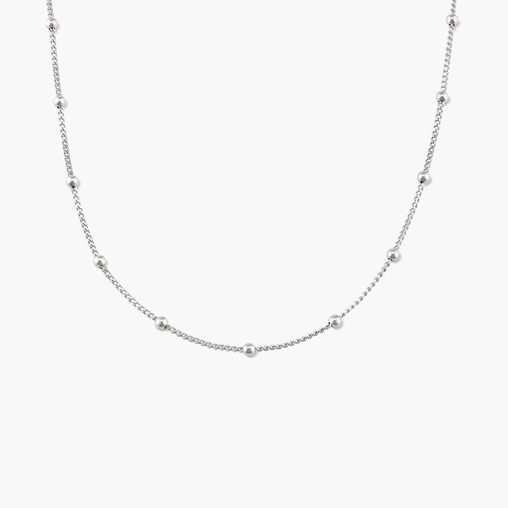Bobble Chain Necklace - Sterling Silver