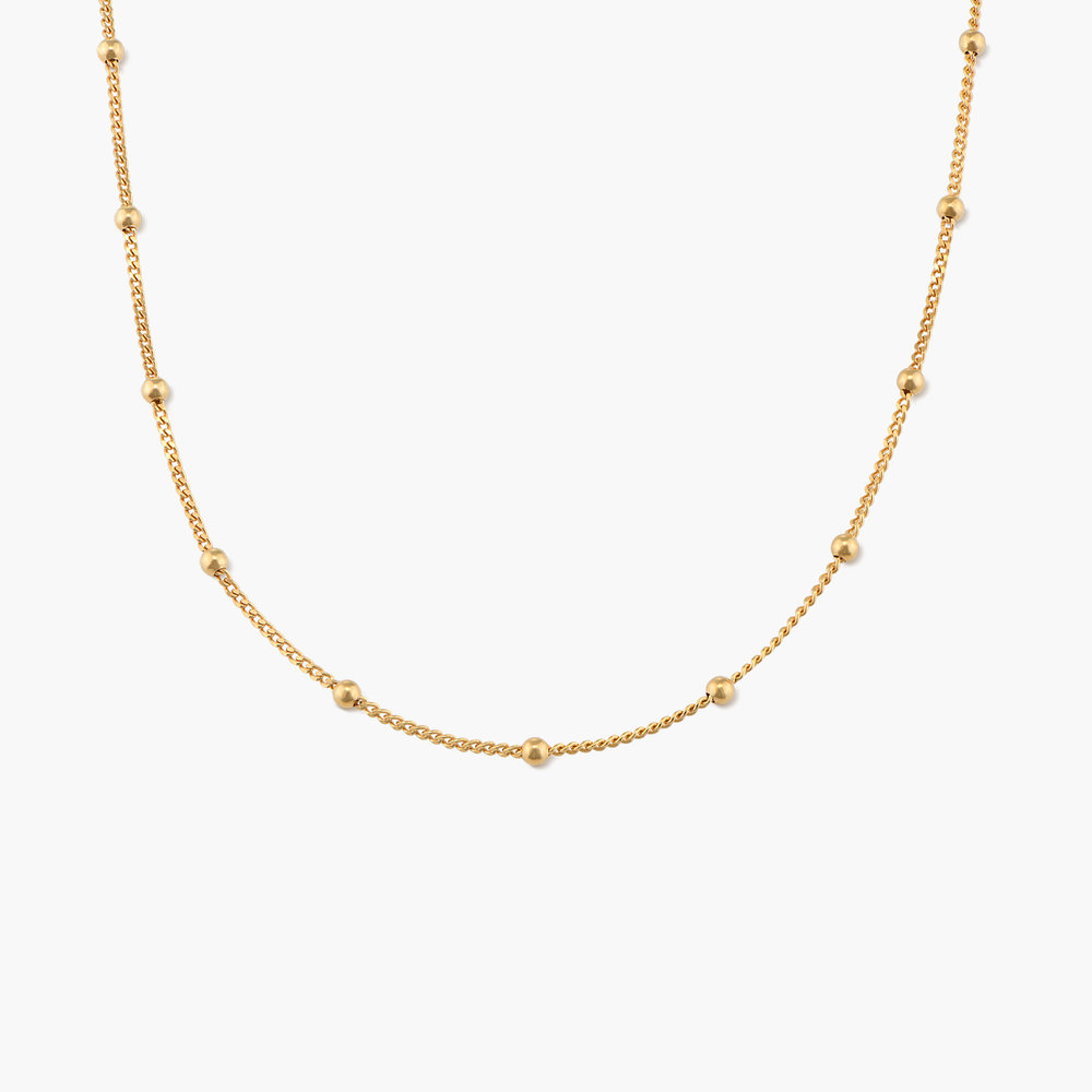 Bobble Chain Necklace - Gold Plated