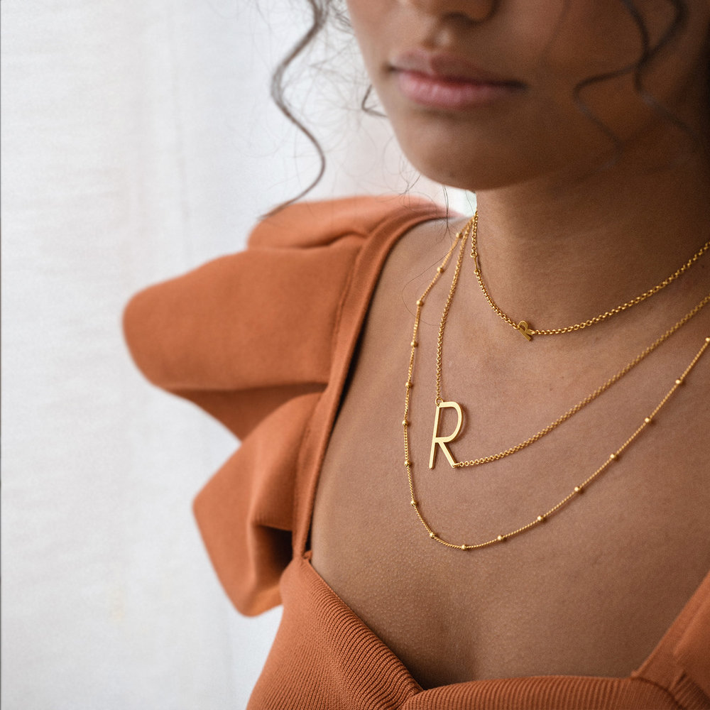 Bobble Chain Necklace - Gold Plated - 2