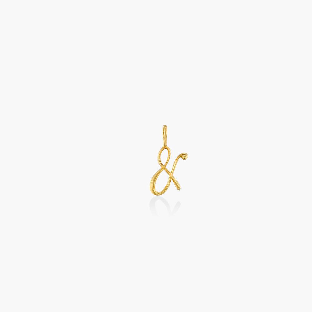 Ampersand Charm - Gold Plating