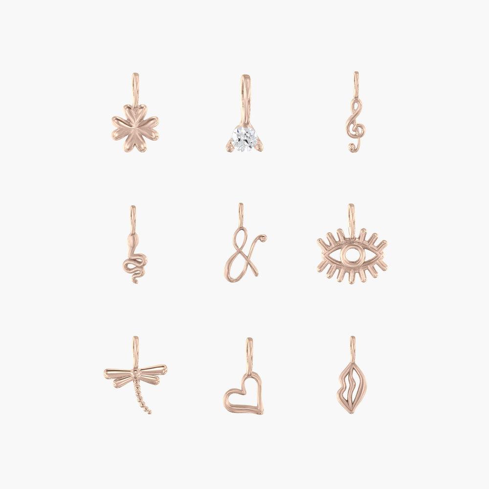 Ampersand Charm - Rose Gold Plating - 2