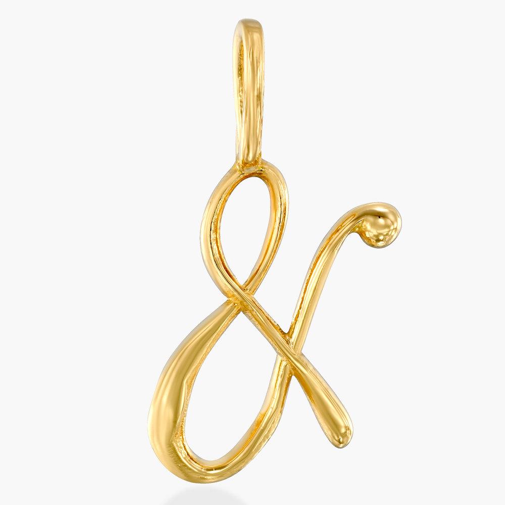 Ampersand Charm - Gold Vermeil