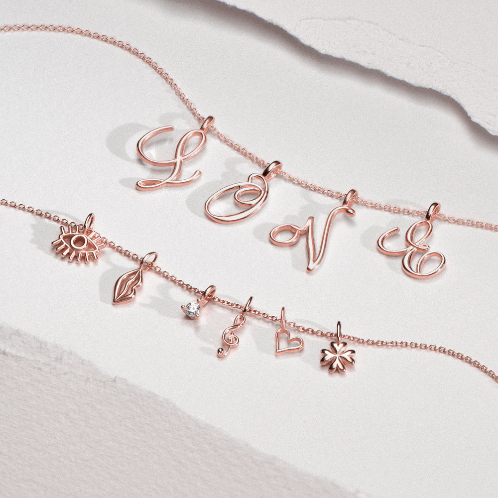 Heart Charm - Rose Gold Plating - 1