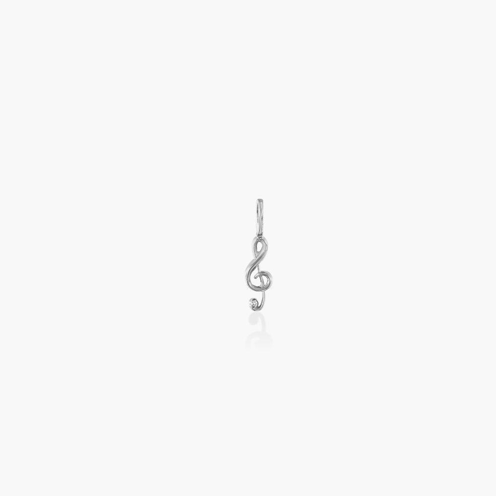 Treble Clef Charm - Silver