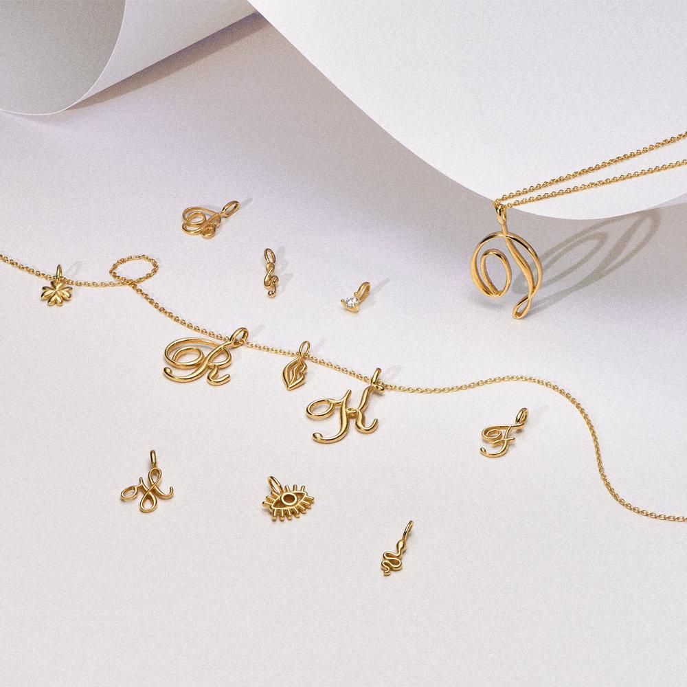 Treble Clef Charm - Gold Vermeil - 1