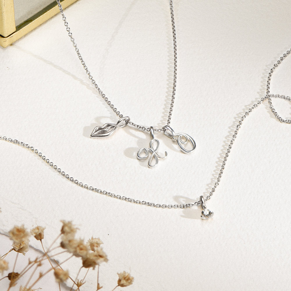 Diamond Charm - Silver - 1