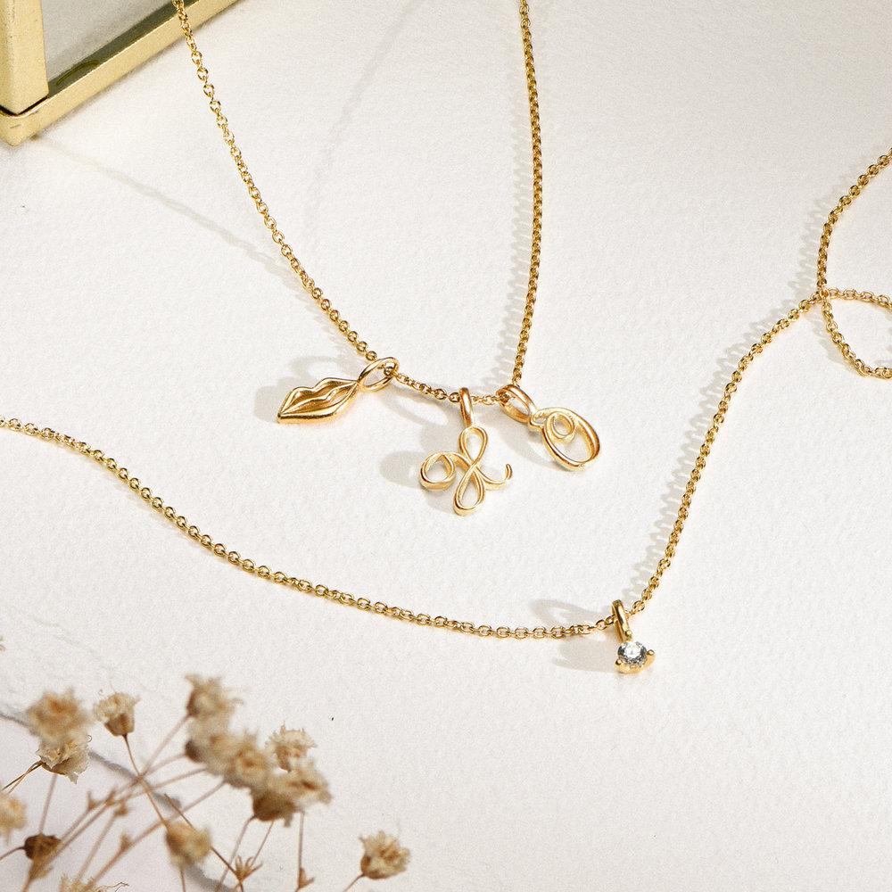 Diamond Charm - Gold Plating - 1