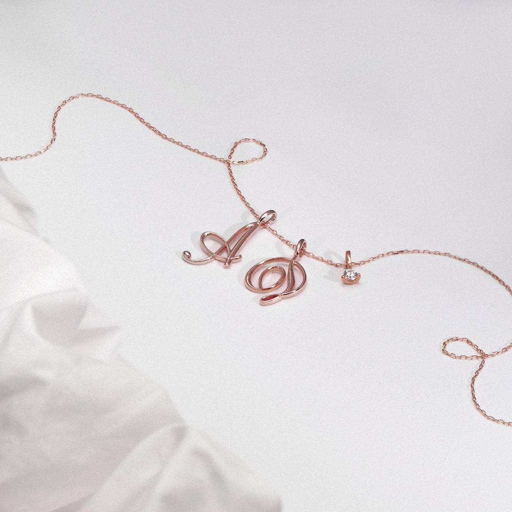 Diamond Charm - Rose Gold Plating - 1