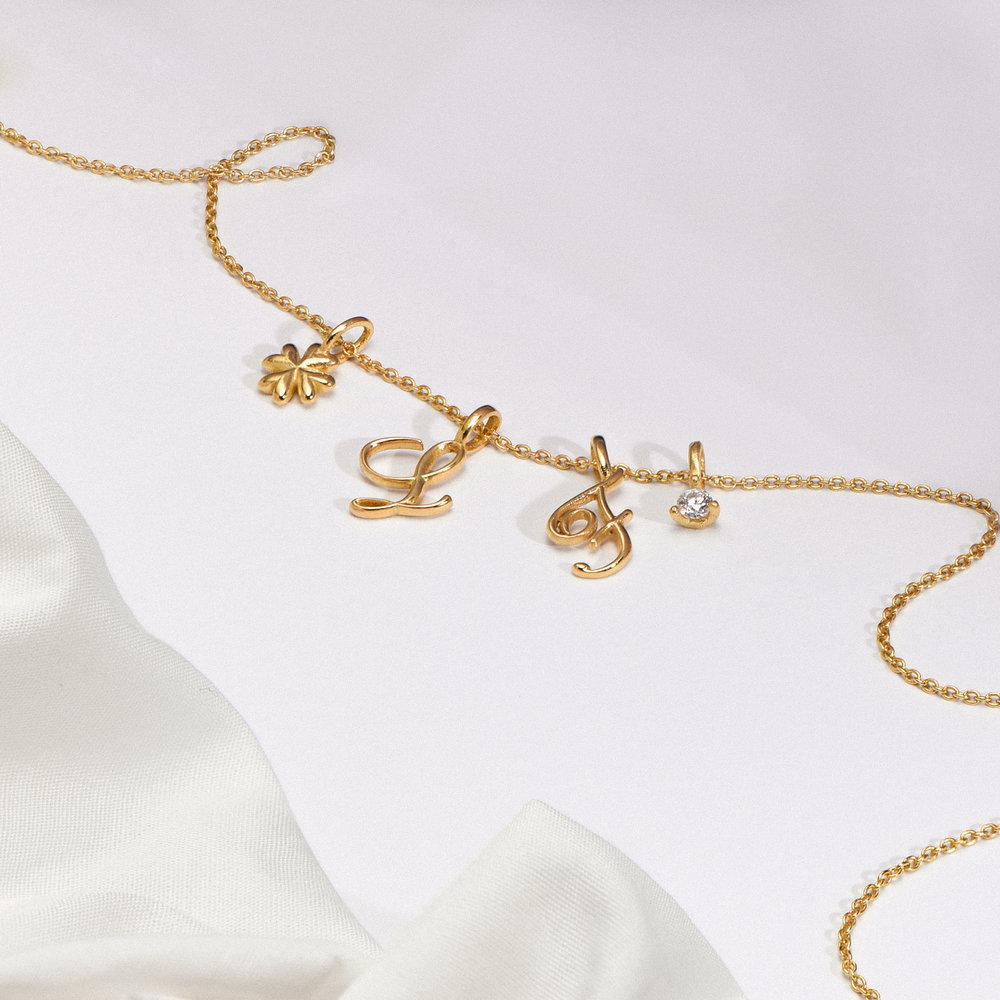 Diamond Charm - Gold Vermeil - 1
