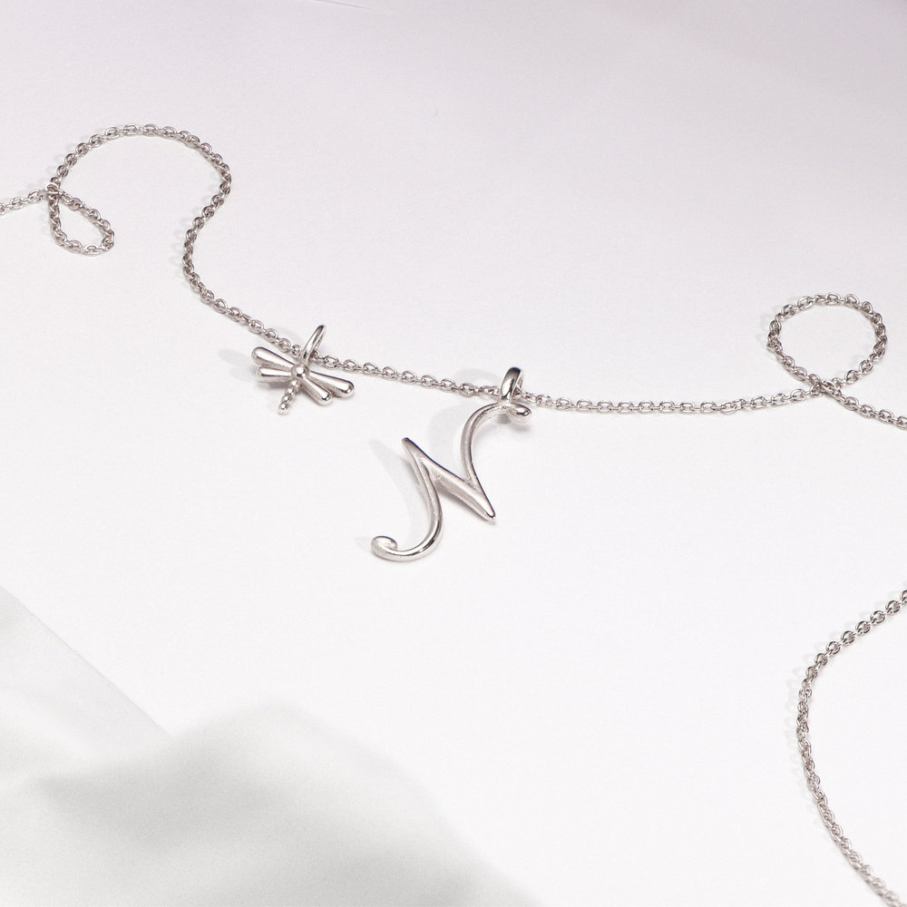 Dragonfly Charm - Silver - 1