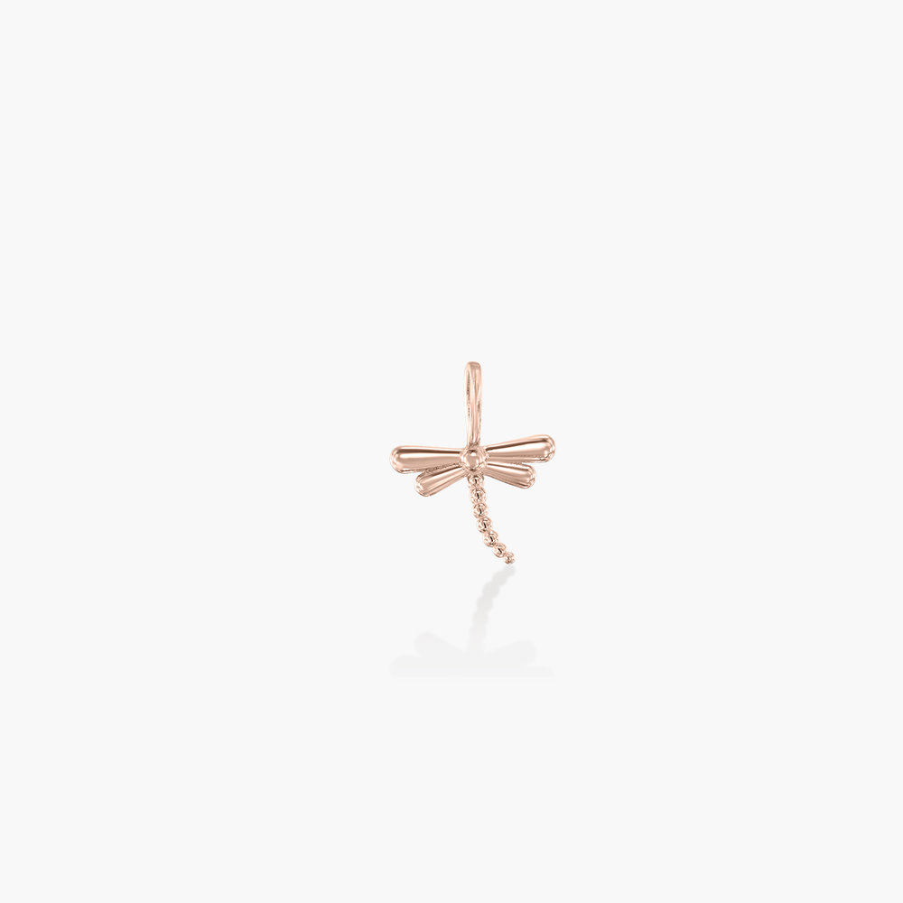 Dragonfly Charm - Rose Gold Plating