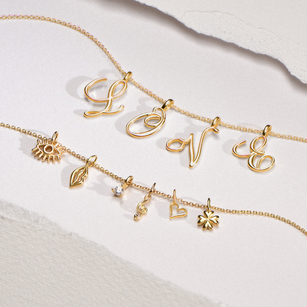 Lips Charm - Gold Plating - 1