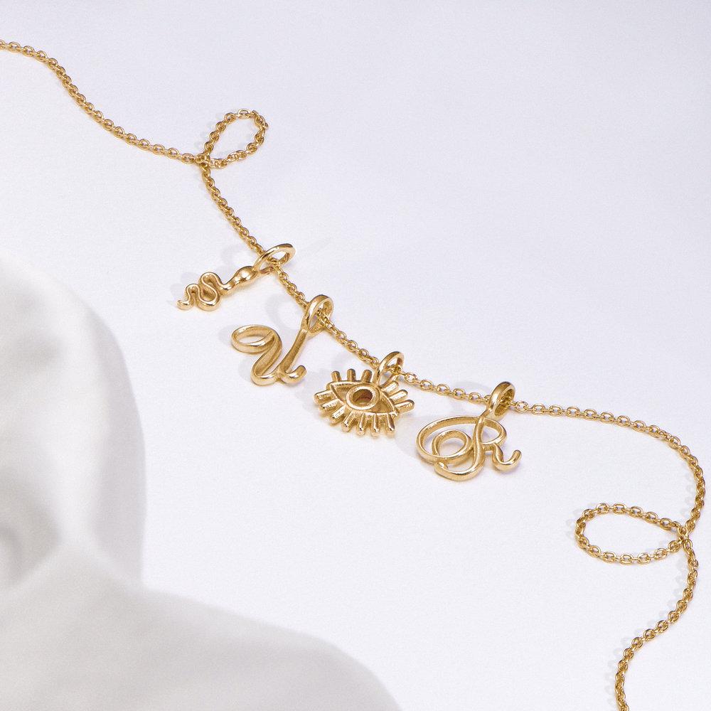 Eye Charm - Gold Vermeil - 1