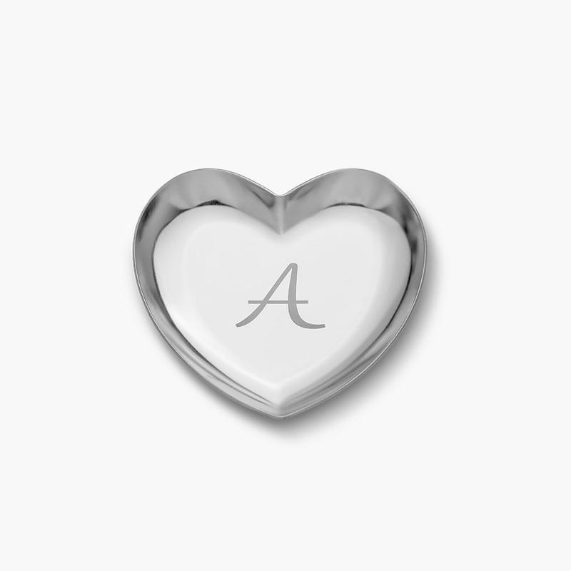Heart Jewelry Dish - Silver