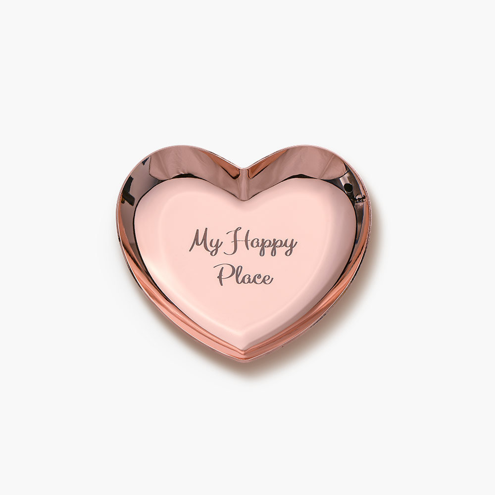 Heart Jewelry Dish - Rose Gold Plated