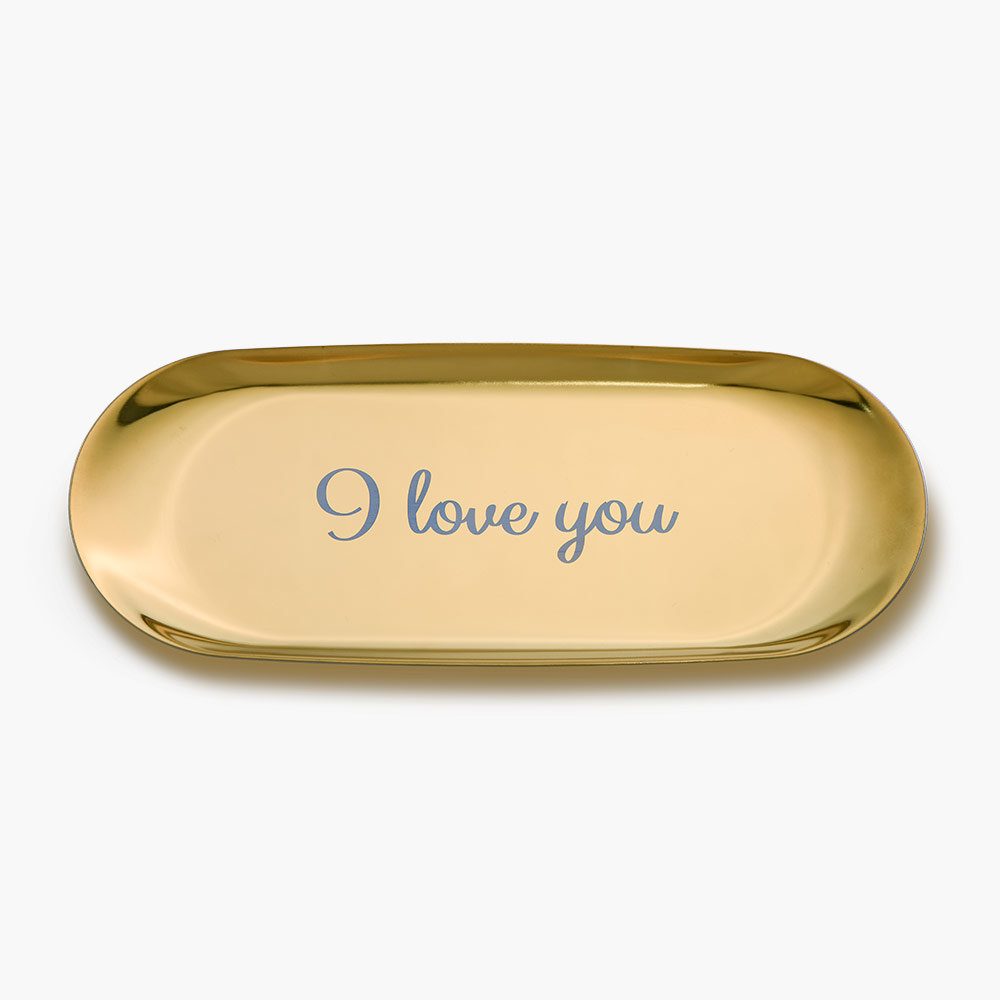 Oval Jewelry Dish - Gold Plated