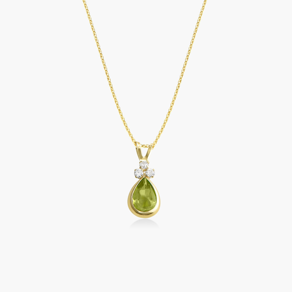 Peridot Pendant Necklace - 14K Gold