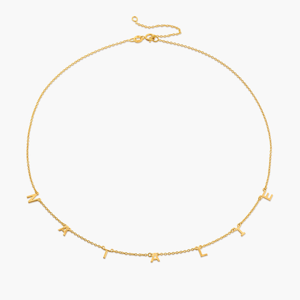 Inez Initial Necklace - 14k Gold - 1