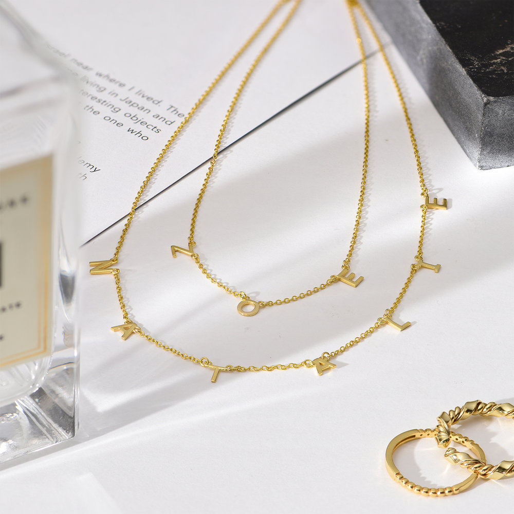 Inez Initial Necklace - 14k Gold - 3