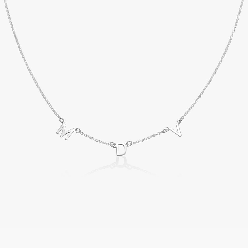 Inez Initial Necklace - Silver