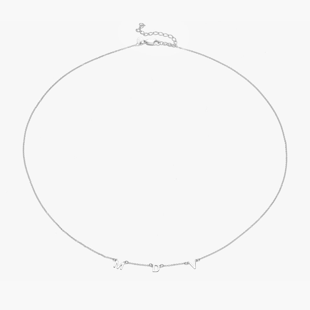 Inez Initial Necklace - Silver - 1