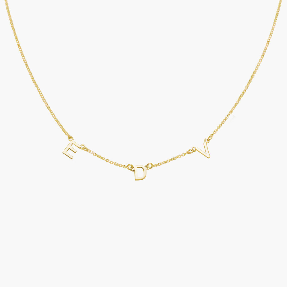 Inez Initial Necklace - Gold Plated