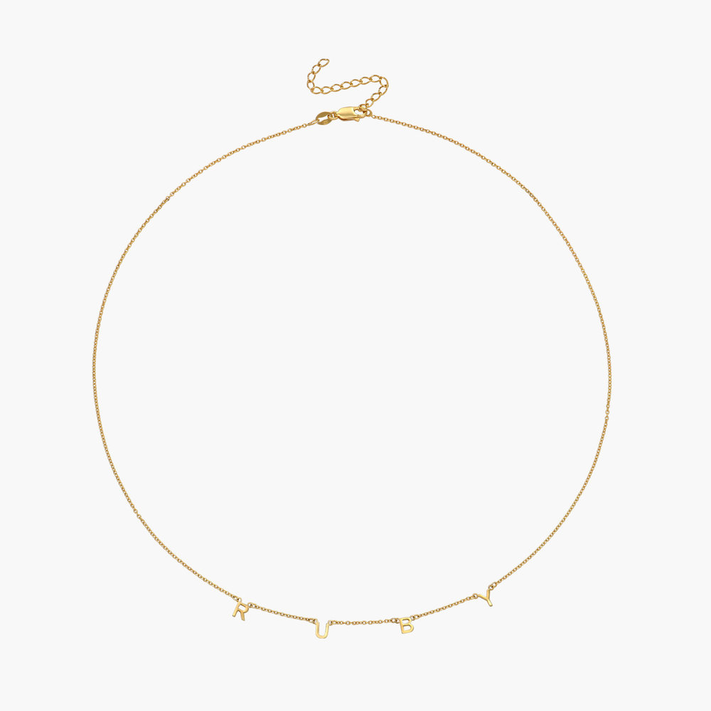 Inez Initial Necklace - Gold Plated - 1