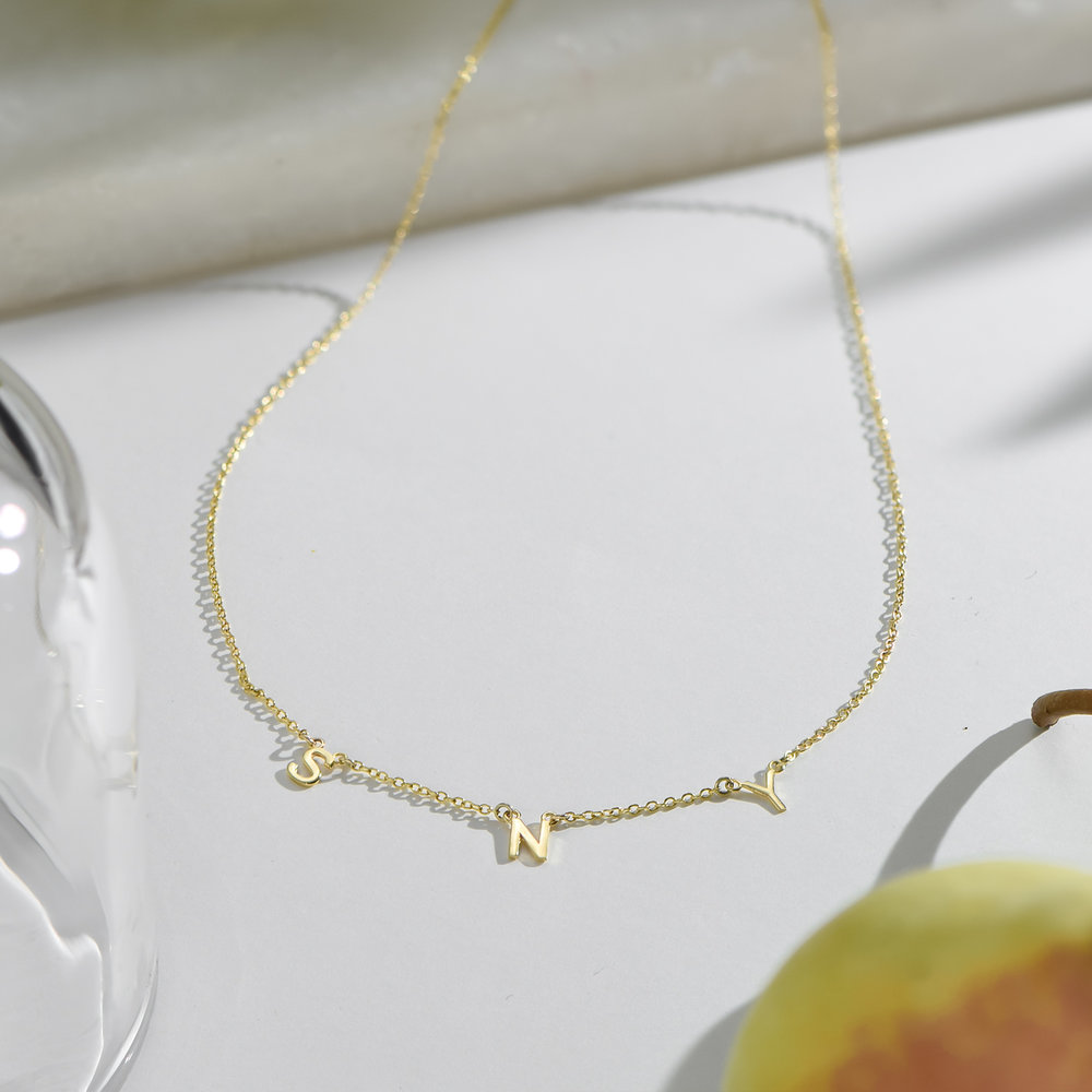 Inez Initial Necklace - Gold Plated - 2