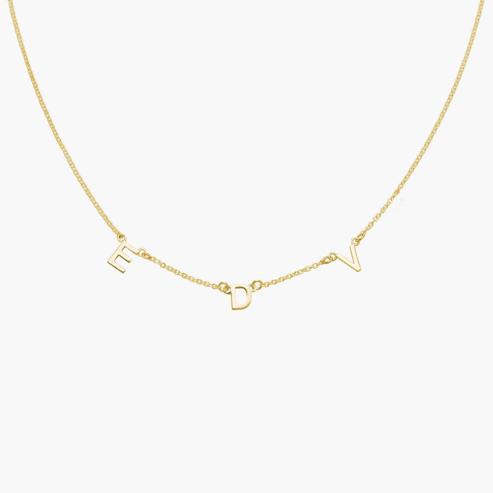 Inez Initial Necklace - Gold Vermeil