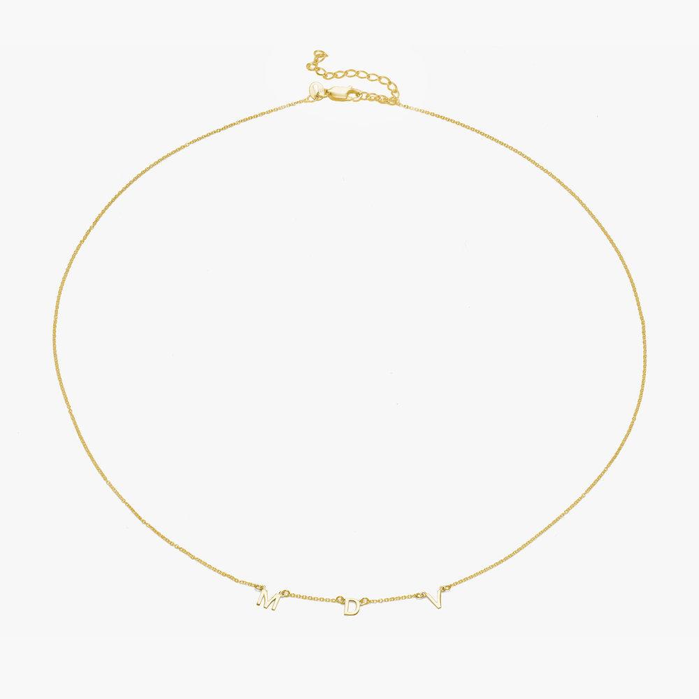 Inez Initial Necklace - Gold Vermeil - 1