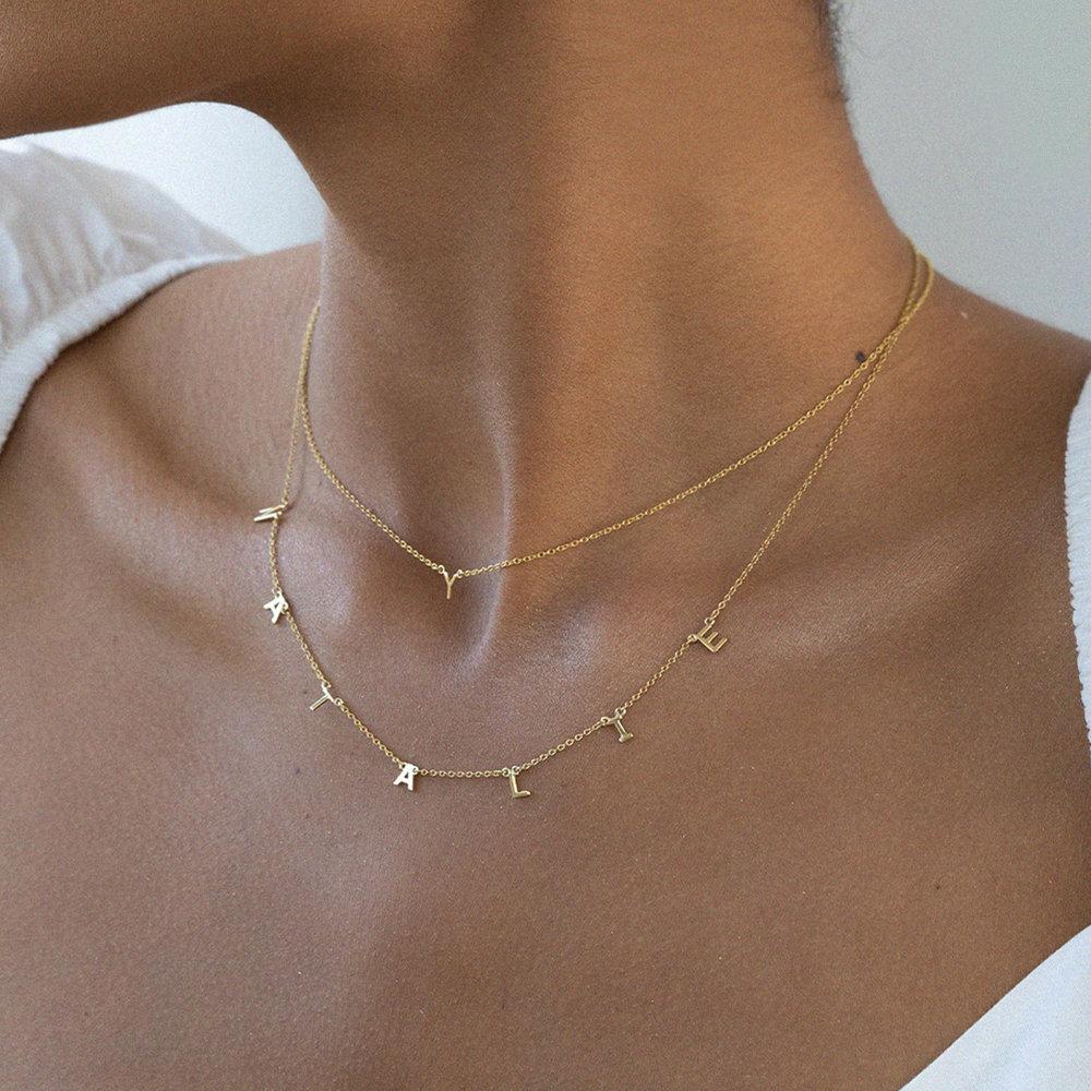 Inez Initial Necklace - Gold Vermeil - 3