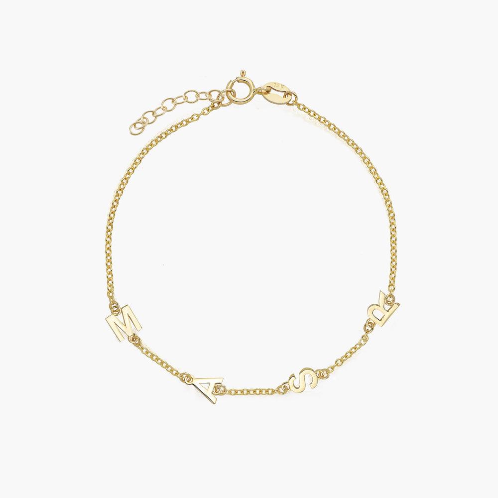 Inez Initial Bracelet - 14K Solid Gold