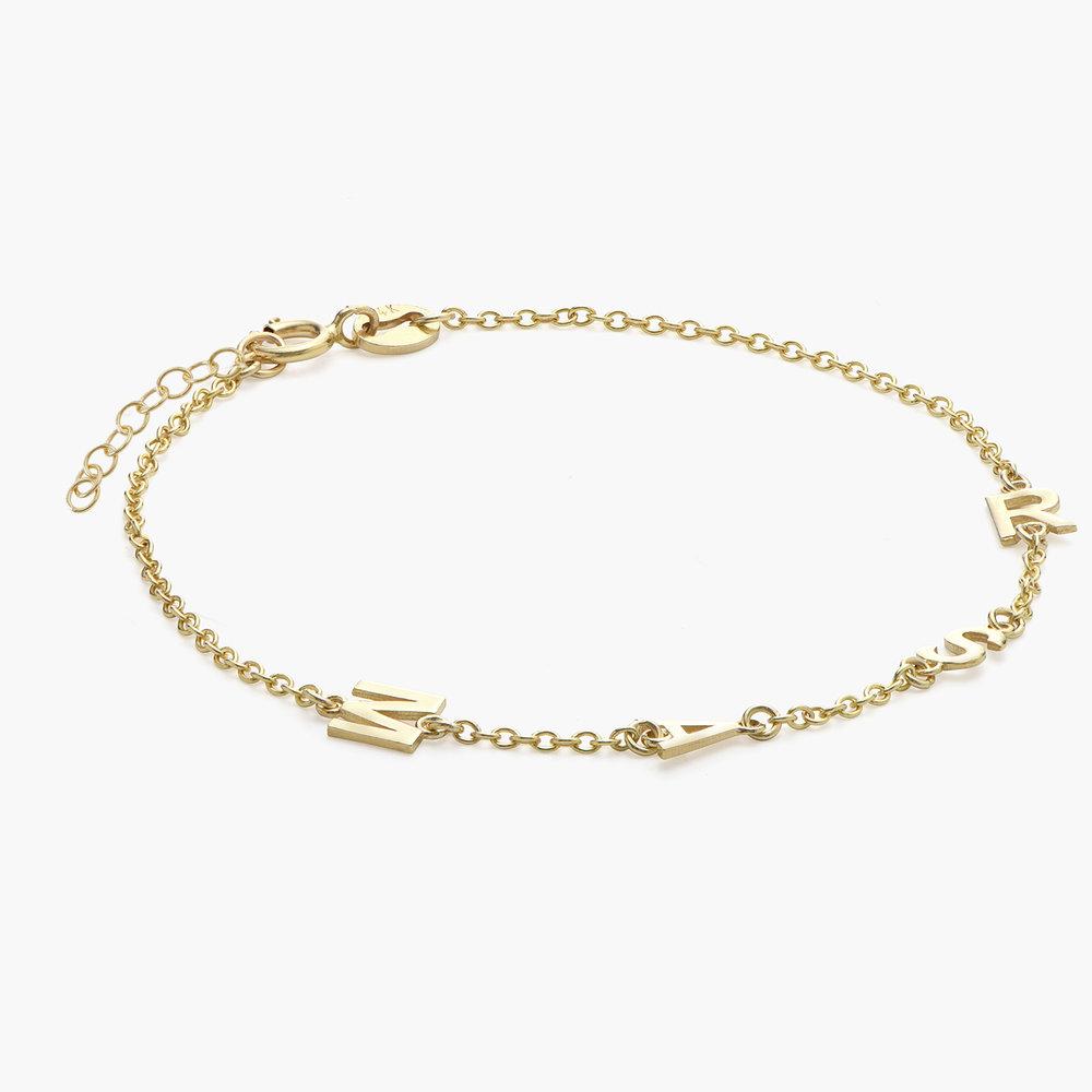 Inez Initial Bracelet - 14K Solid Gold - 1