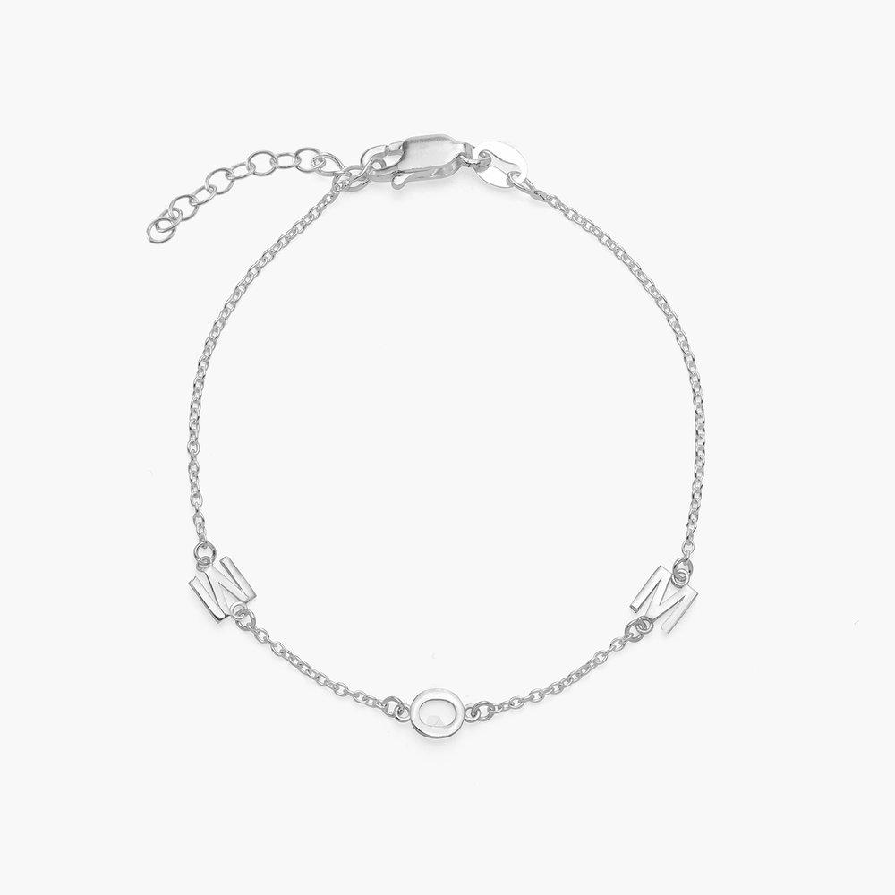 Inez Initial Bracelet - Silver - 1
