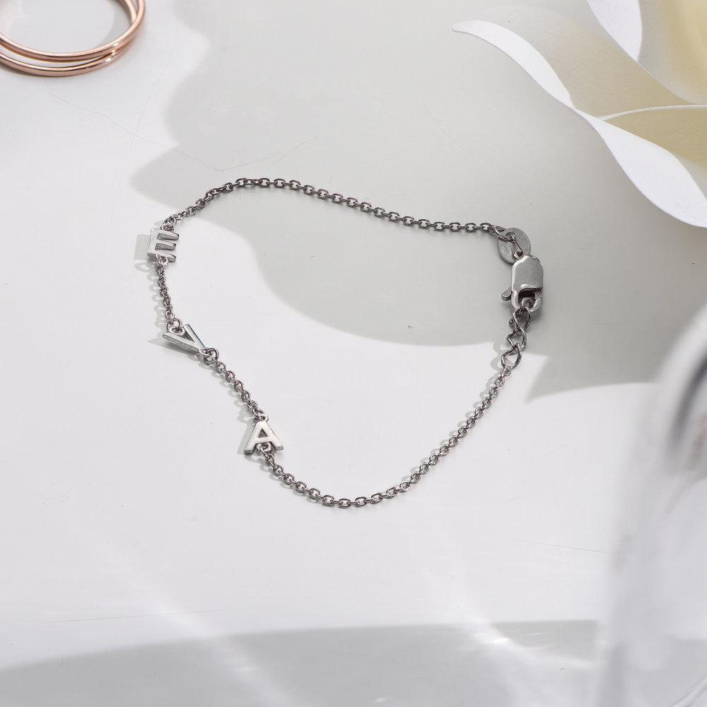 Inez Initial Bracelet - Silver - 2