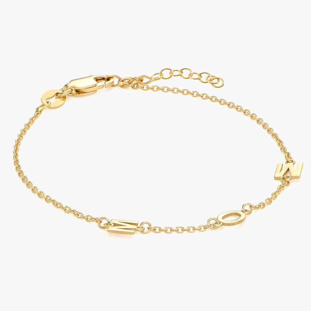Inez Initial Bracelet - Gold Plated - 1