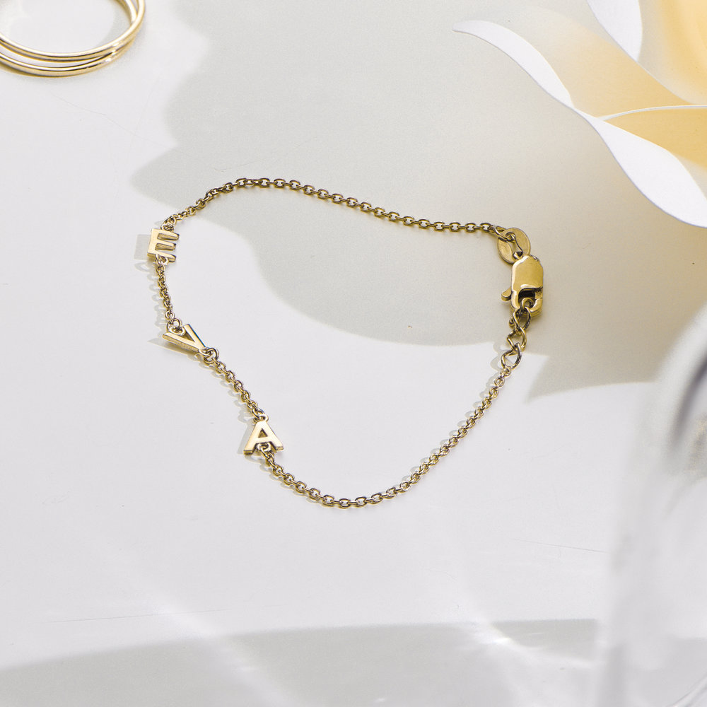 Inez Initial Bracelet - Gold Plated - 2