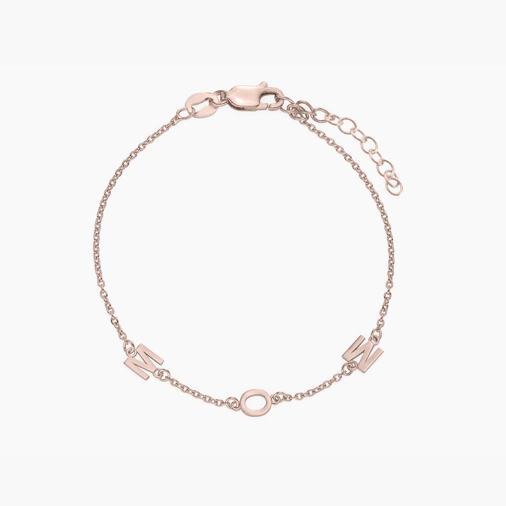 Inez Initial Bracelet - Rose Gold Plated