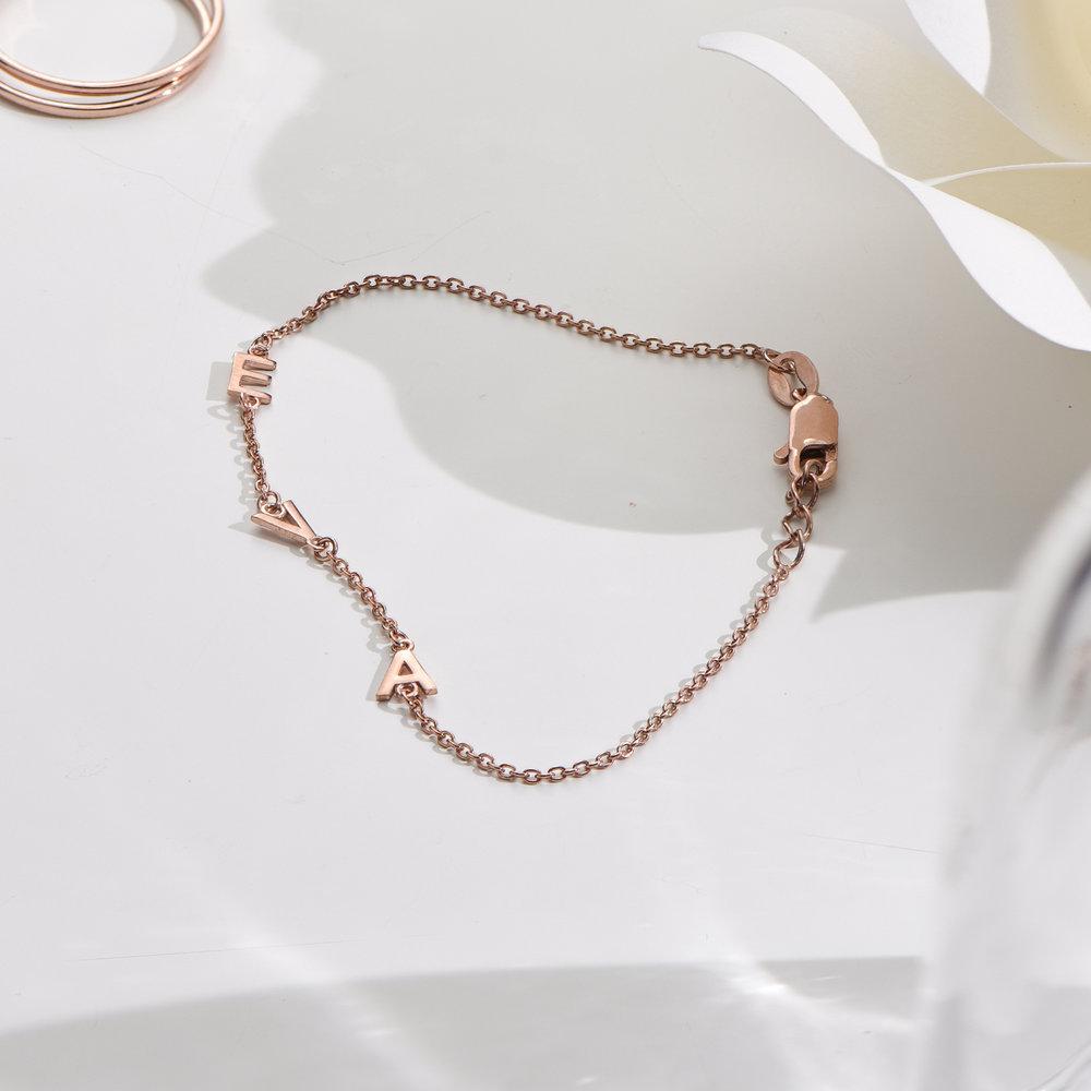Inez Initial Bracelet - Rose Gold Plated - 2