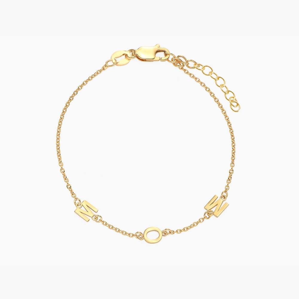 Inez Initial Bracelet - Gold Vermeil