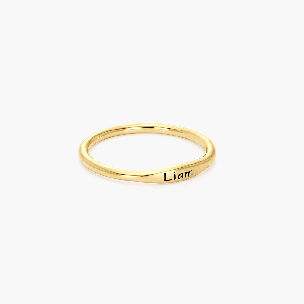 Gwen Thin Name Ring - 14K Gold - 1