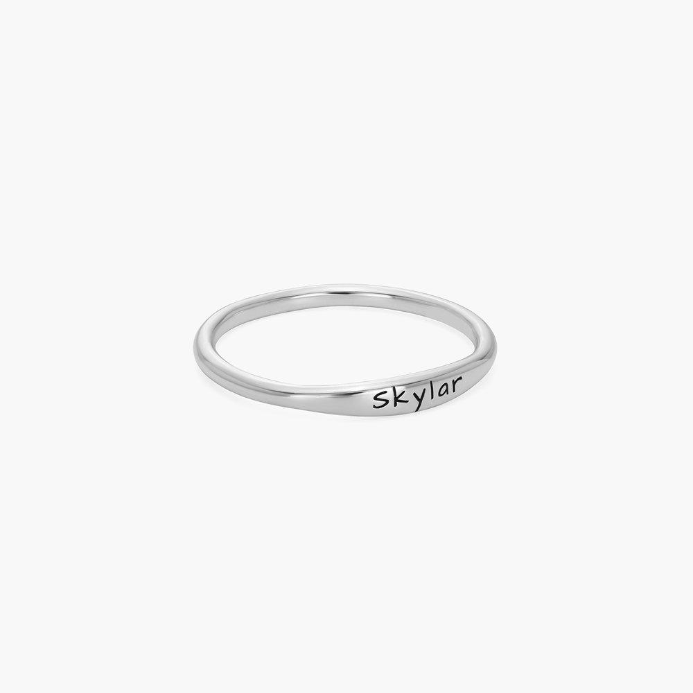 Gwen Thin Name Ring - Silver - 1