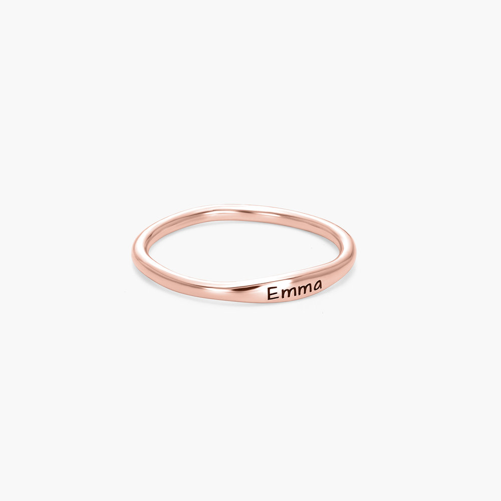 Gwen Thin Name Ring - Rose Gold Plated - 1