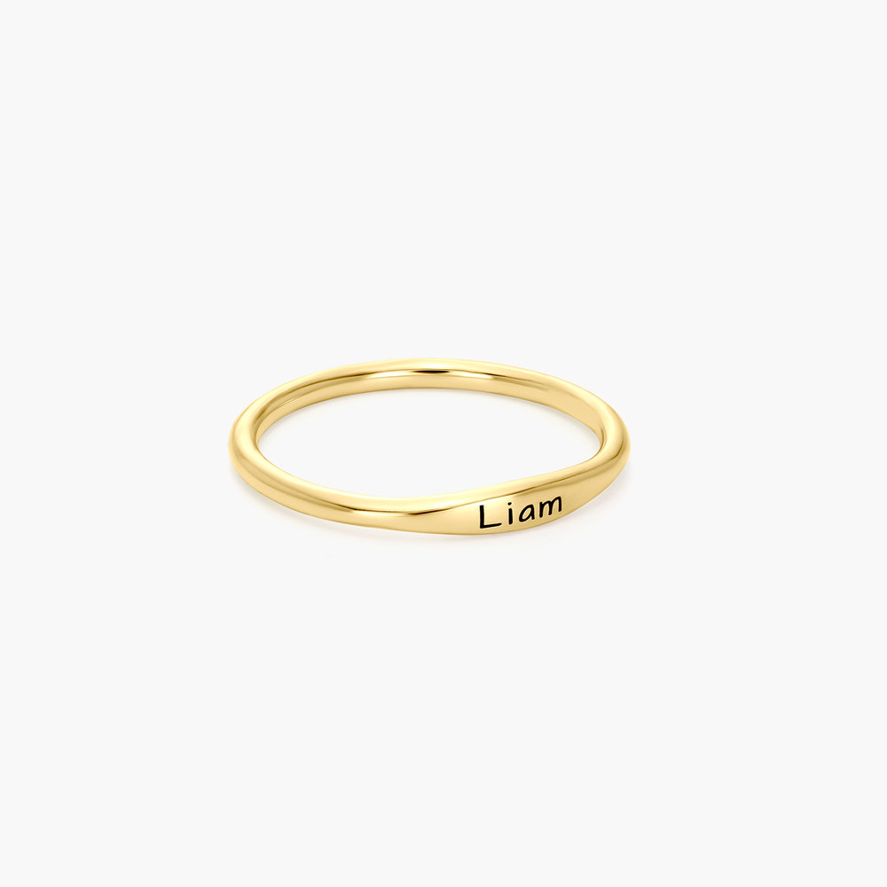 Gwen Thin Name Ring - Gold Vermeil - 1