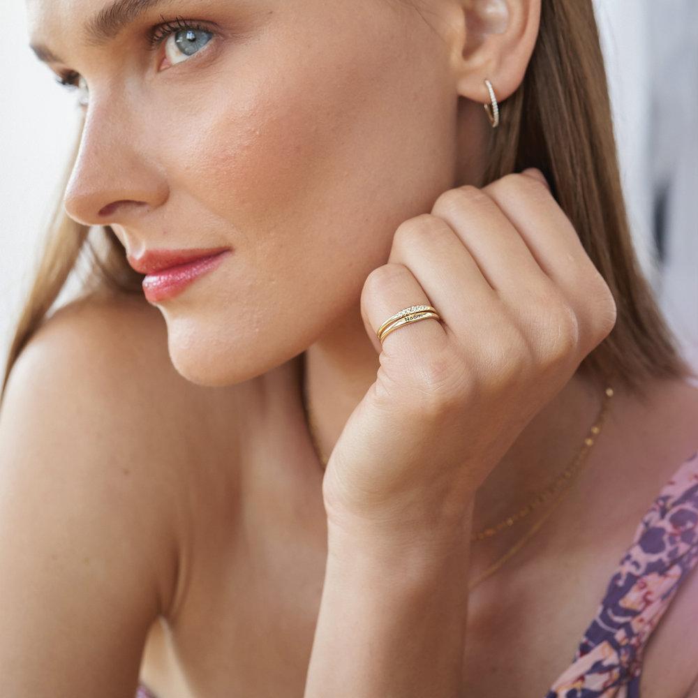 Gwen Thin Name Ring - Gold Vermeil - 3