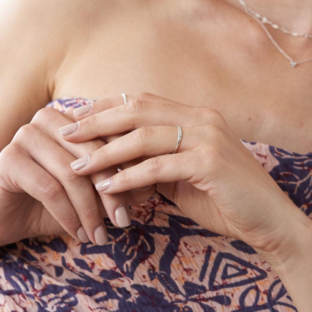 Darleen Diamond Ring - Silver - 4