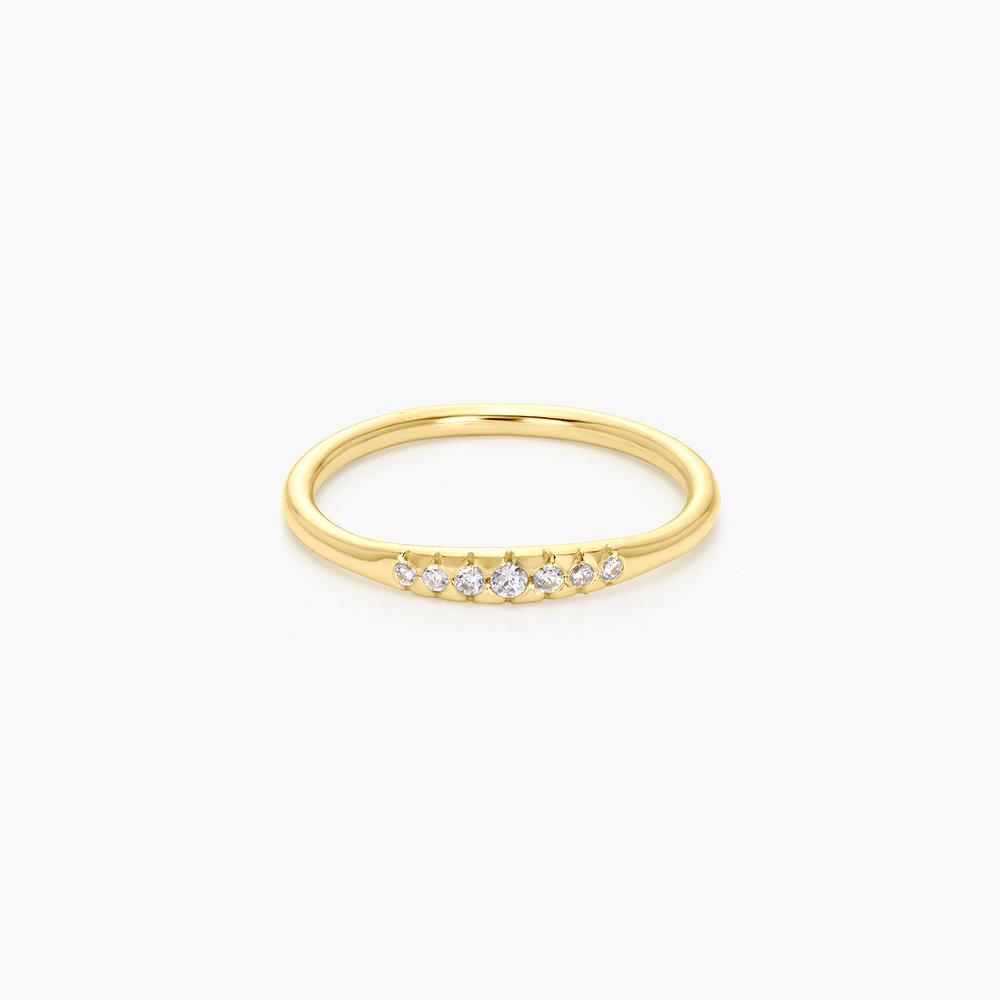 Darleen Diamond Ring - Gold Plated