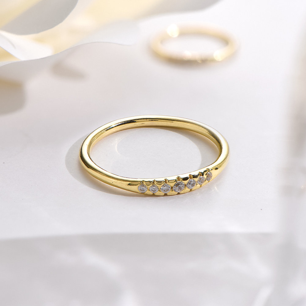 Darleen Diamond Ring - Gold Plated - 2
